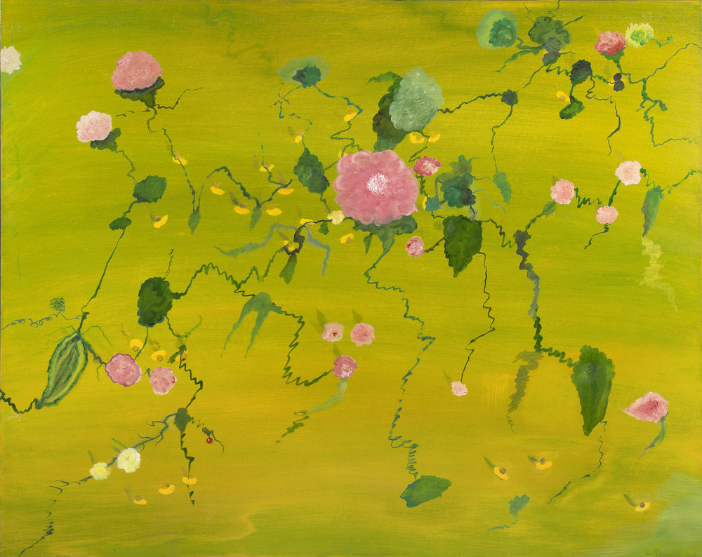 "Large Flowers With Rose 48"" x 60"""