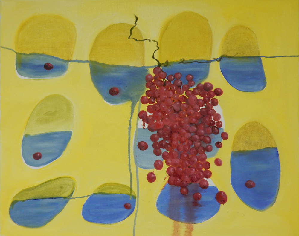 Red Grapes Blue Shapes 24x30 2015.jpg