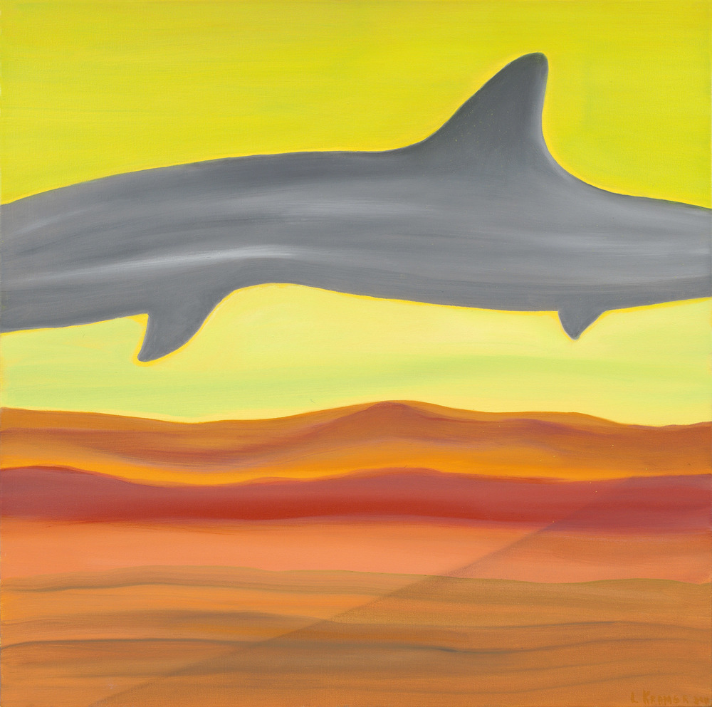 "Shark in Yellow Sky    30""x40"""