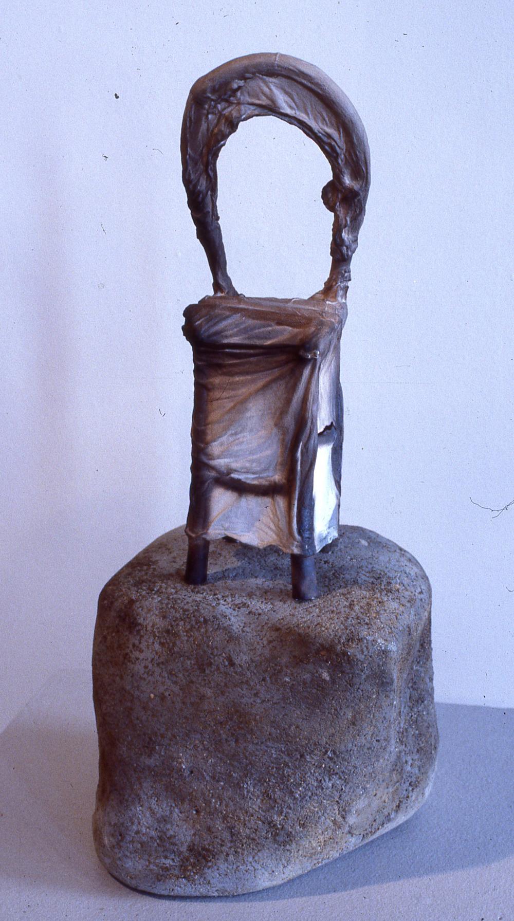 Burnt Chair on Rock 21x8 1979.jpg