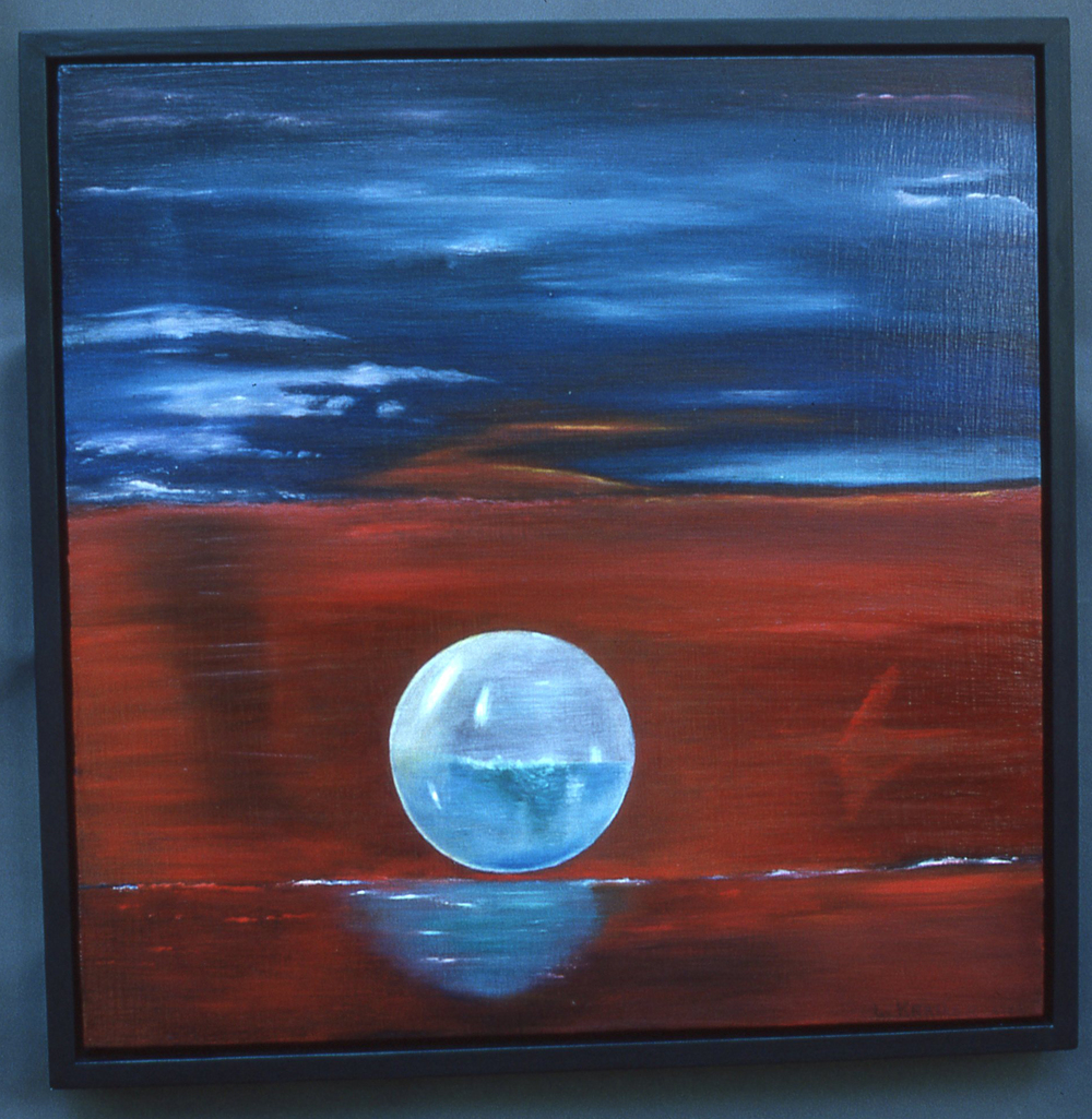 Bubble #11  oil on wood