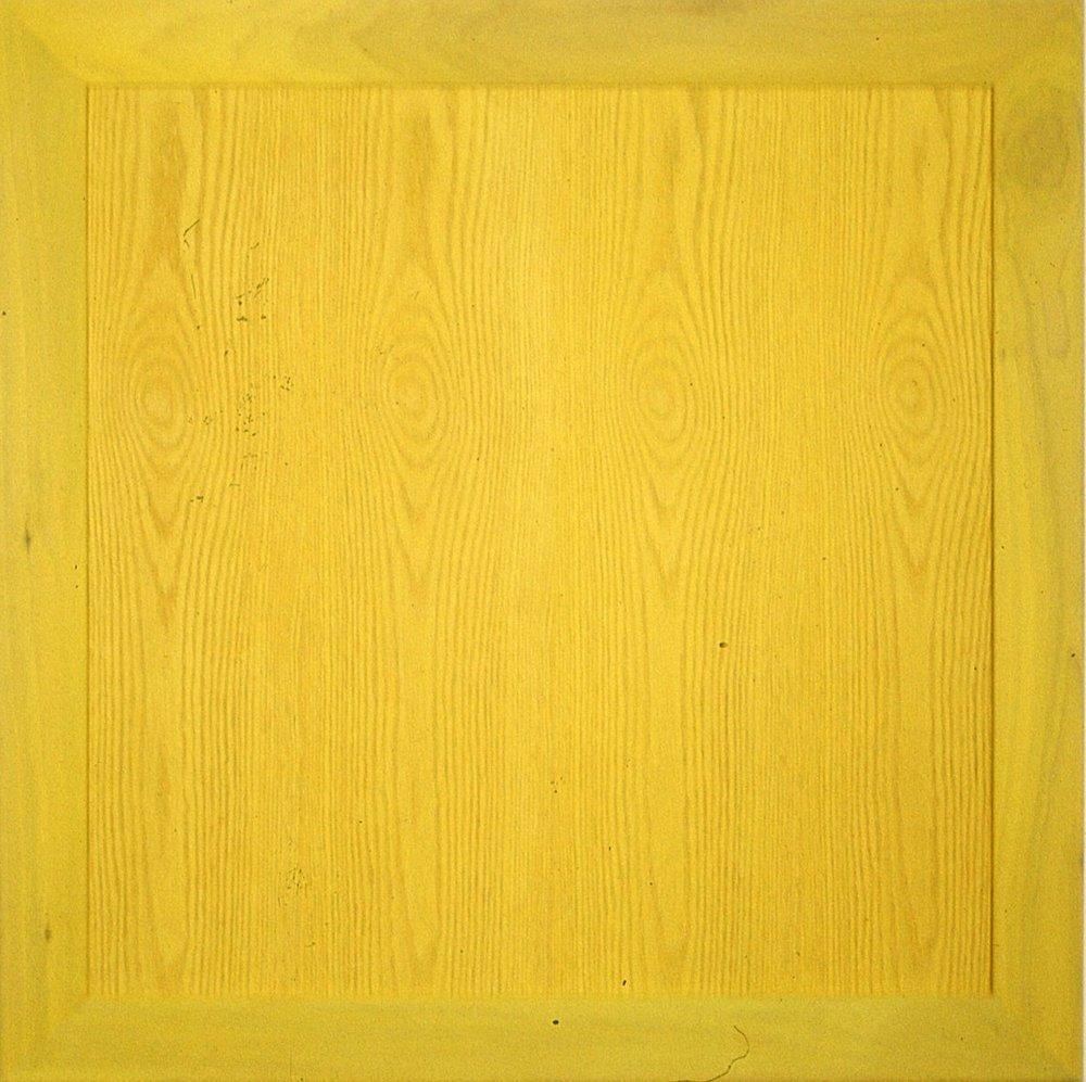 """Yellow     acrylic on wood  36"""" x 36"""""""
