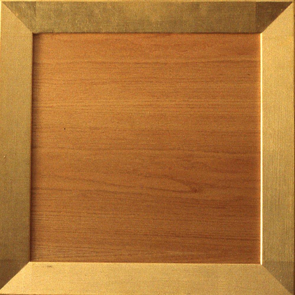 """Wood and Gold Leaf  36""""x36 """" 23k gold leaf/wood"""