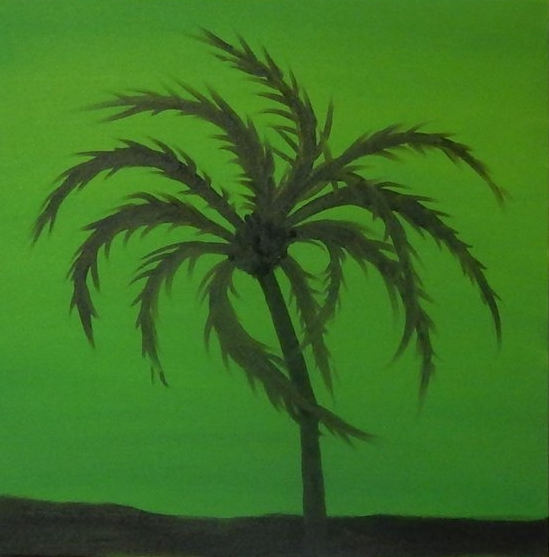 "Green Palm  20""x20"""