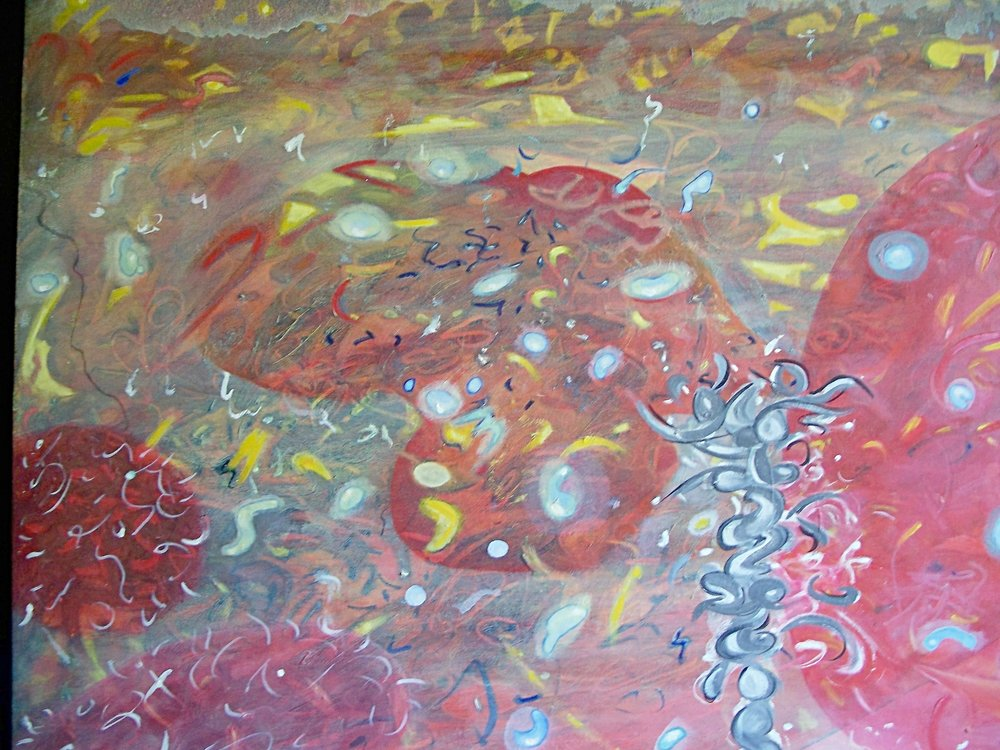 "Complex Dance  20""x30""  oil on canvas"