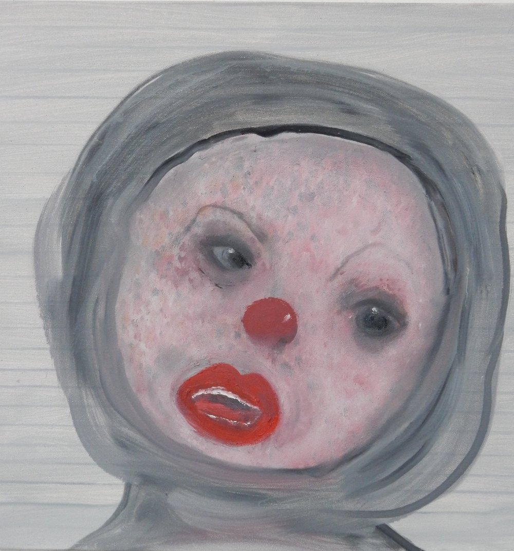 """Red Mouth  20""""x 20"""""""