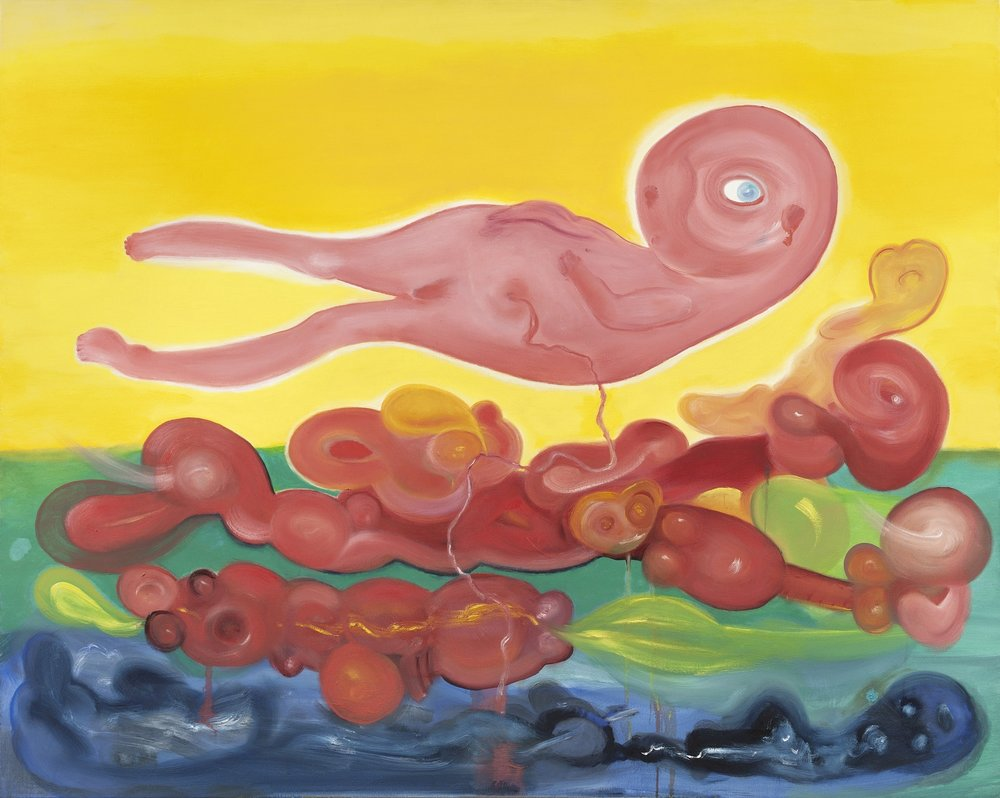 "Large Fetus in Yellow Sky  40"" x 60"""