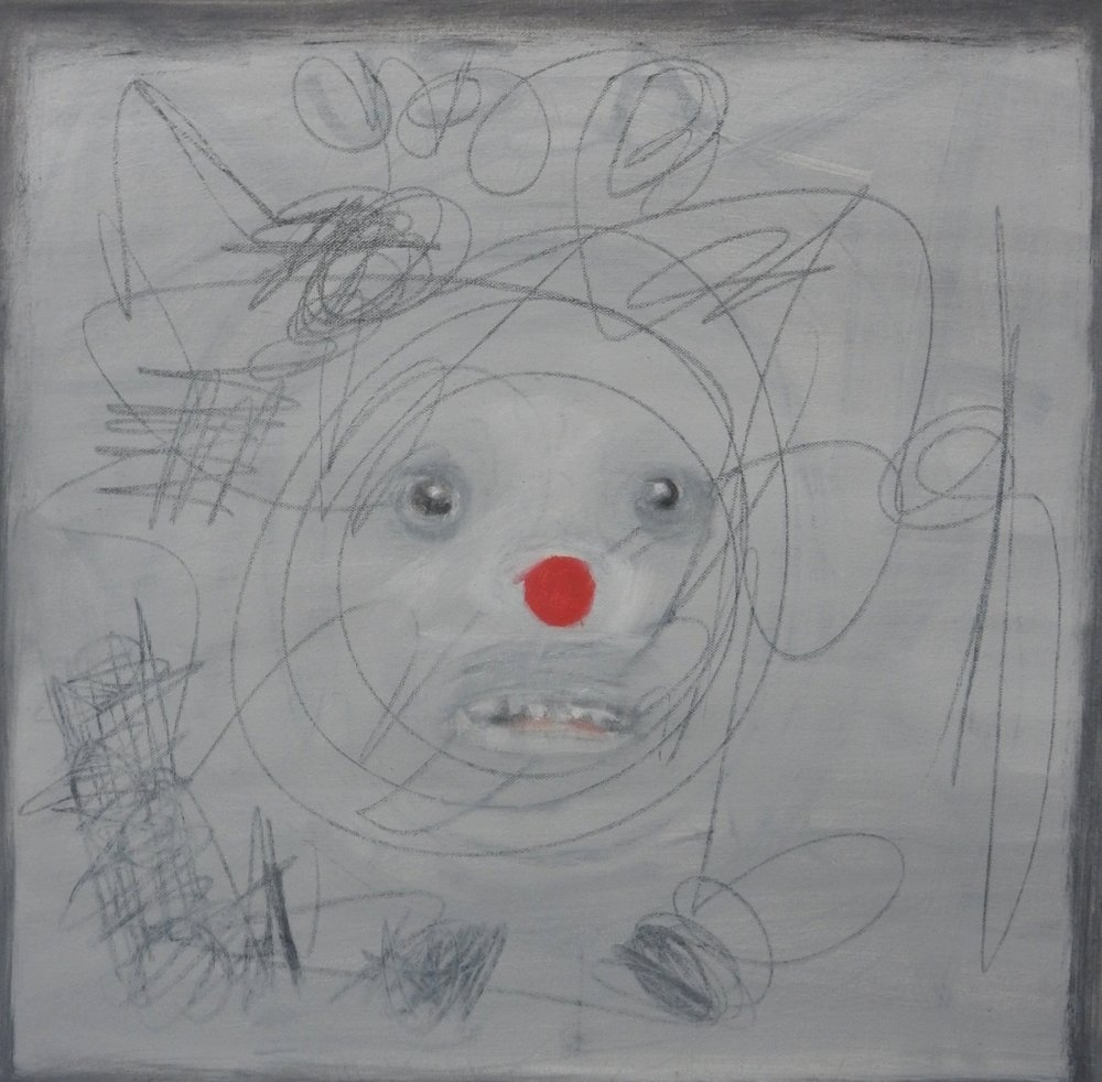 "Red Nose 20""x 20"""