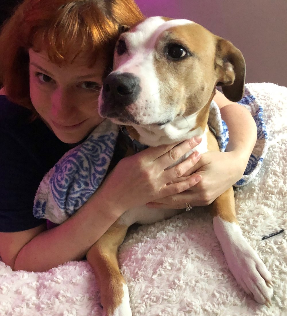 thanks for reading! It's nice to be back. :) - That's me and Rocky. She's not mine, but belongs to one of my besties up in Philly. I'd like to think that we have a healthy relationship…