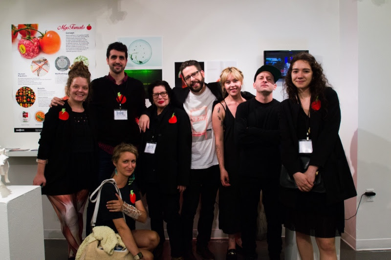 SVA poses with their project Myotomato at the Biodesign Challenge Summit 2016.