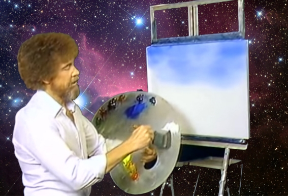 Bob Ross in SPAAAAAAAACE