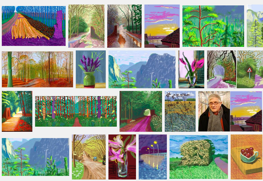 Some of David Hockney's iPad paintings