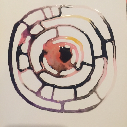 Relaxing Ink Artwork - Pink Circle - art by Becky Jewell.JPG