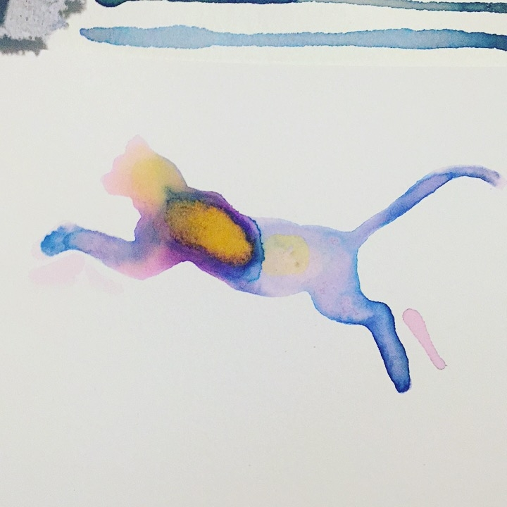 Leaping Cat - Watercolor Art - Becky Jewell.JPG