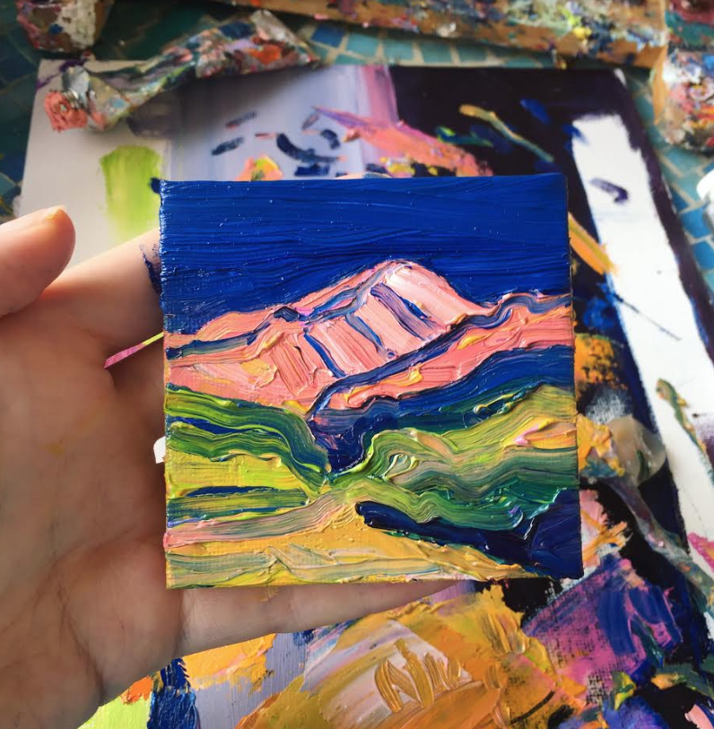 A miniature of Mt. Elbert in Leadville, Colorado