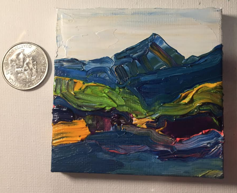 Another miniature of Mt. Elbert - about 3 x 3 inches