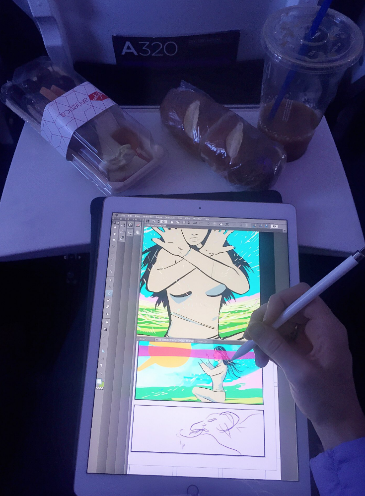 comic book art virgin airlines ipad pro.png