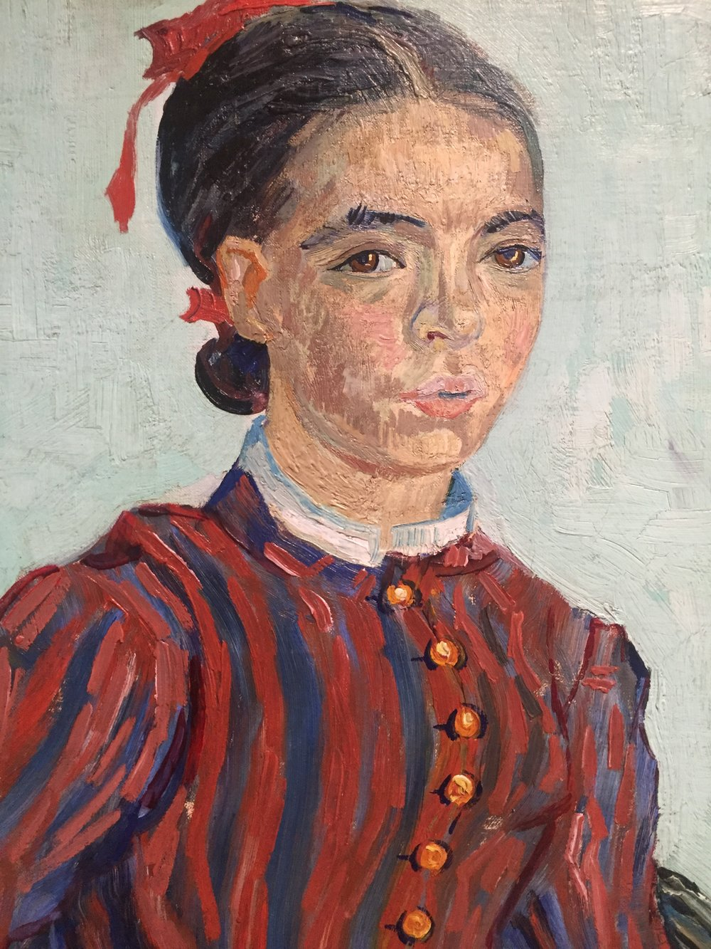 van gogh red dress face detail.JPG