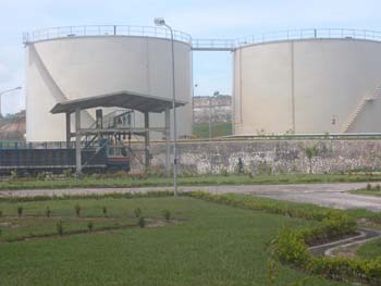 Sumatra palm oil mill (photo courtesy of International Elephant Foundation)