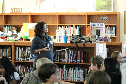 Vanessa presenting