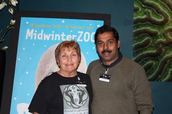 Linda Reifschneider and Dr. Arun Zachariah