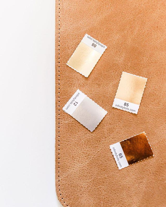 A few foil lovelies we keep on hand for letterpress design. If your brand had a foil, would you be gold, copper, or somewhere in between?  Photo by @southern_lens_photography •  • • • •  #mycreativebiz #creativeentrepreneur #savvybusinessowner #creativepreneur #smallbiz #onmydesk #creativeentrepeneur #whereiwork #solopreneur #buildingmyempire #ceohappyhour #theimperfectboss #slowentrepreneur #workwellplayoften #tnchustler #handsandhustle #ecommercemaven #workforyourself #slaytheday #coffeechats #teamwork #teamworkmakesthedreamwork #workspace #workplace #workstation #homeoffice #socialmediamarketing #handmadebusiness #agencylife #deskdecor