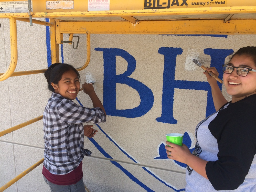 Students painting BHS