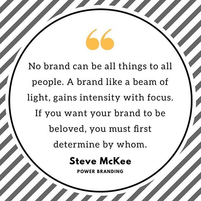 Steve goes on to say that effective branding is not about whose business you'll accept but whose business you seek. 🔥🔥 I'm digging this book and think Steve's perspective is valuable to every marketer / brand / biz.  Grab it , read it and let's discuss !