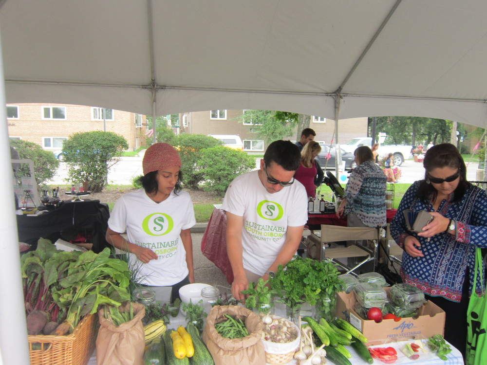 Selling produce at the Street Festival 2015