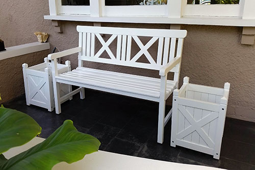 Wooden Outdoor Furniture Garden Benches Pool Furniture