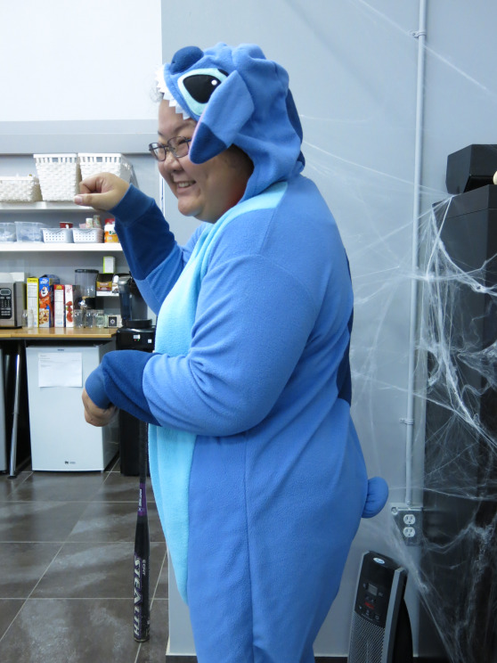 Jacquelyne. Stop it with your Stitch onesie. You're adorable.