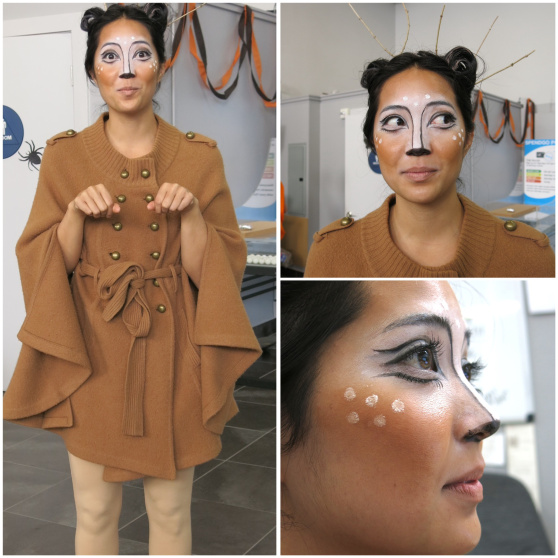 Kerina's deer costume impressed us so much, we had to create this collage for her. Look at that makeup application, people!