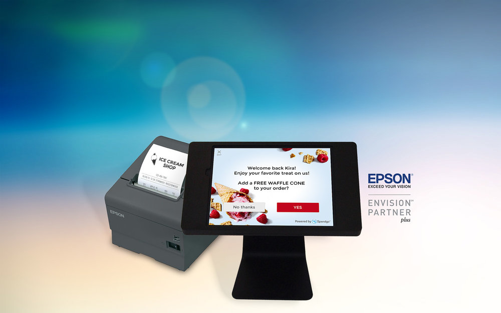 Integrate Spendgo with  any  POS!   Spendgo & Epson introduce a painless and affordable POS integration.   Learn More