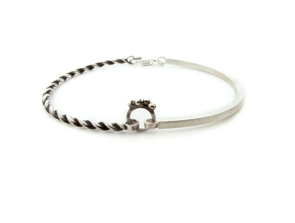 rope & granule bracelet
