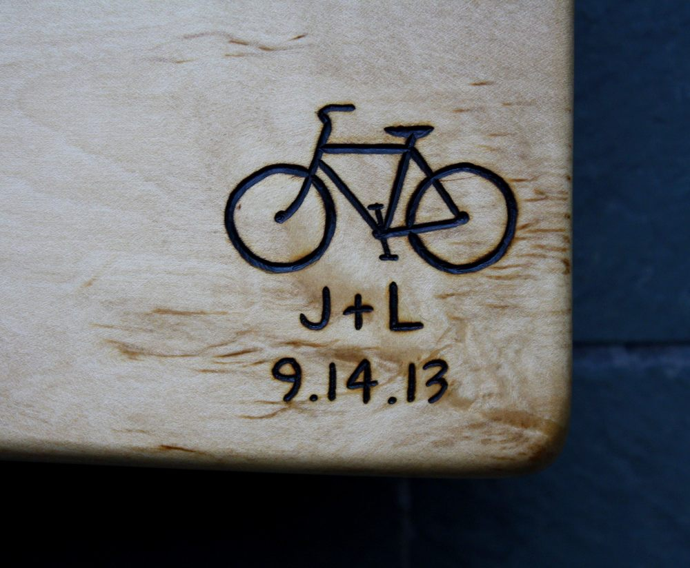 298 bicycle initals date on maple