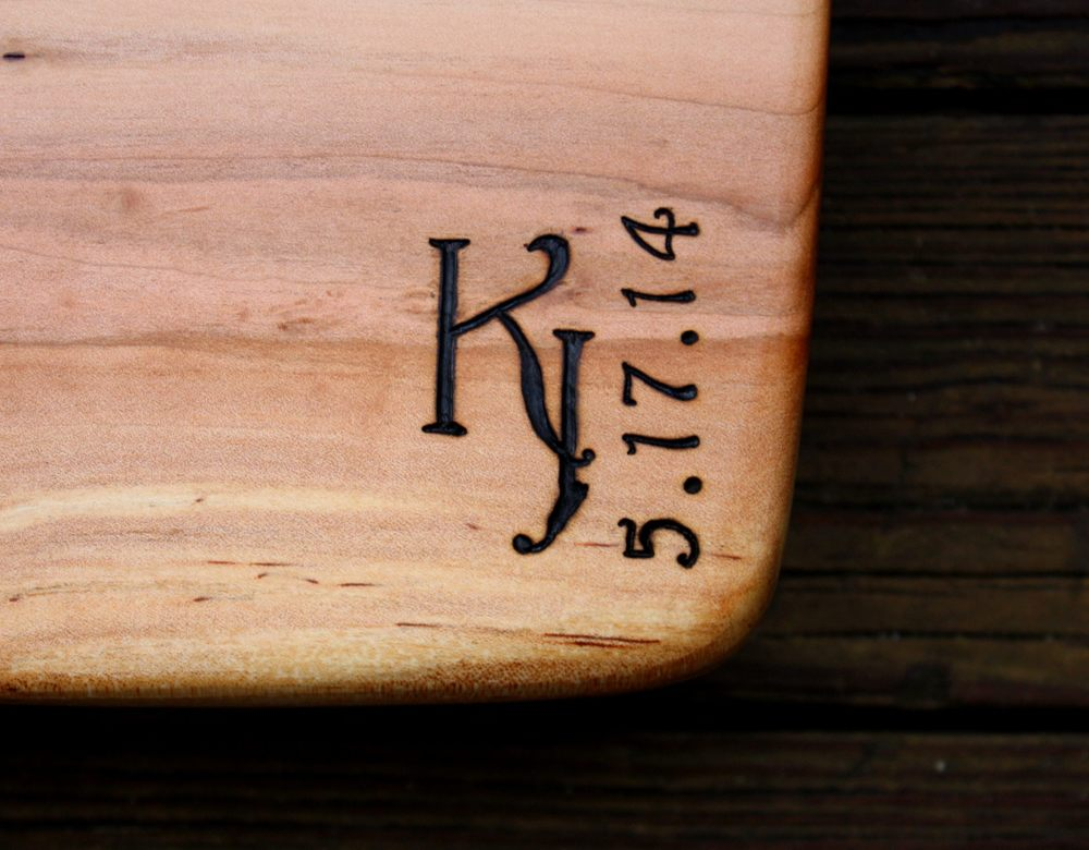 320 harrington monogram on spalted black cherry