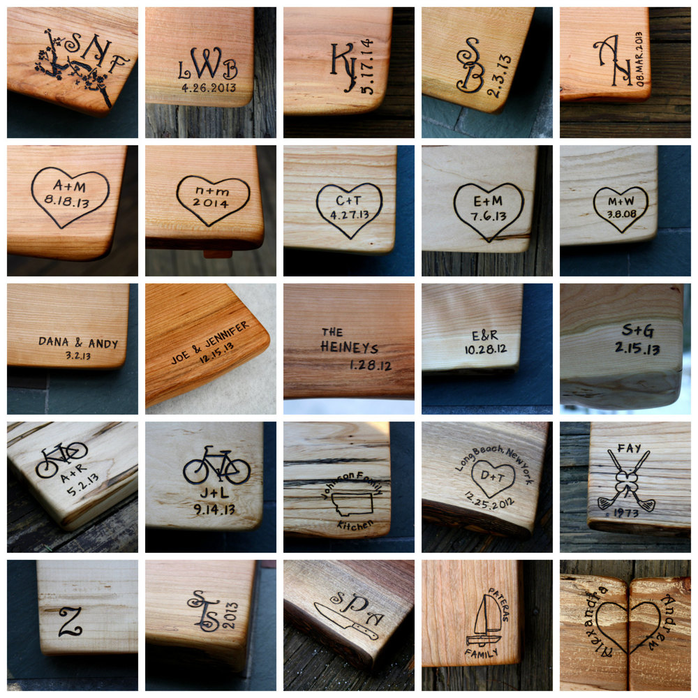 Personalized Cutting Boards, 5th Anniversary Gift, Unique Wedding Gift