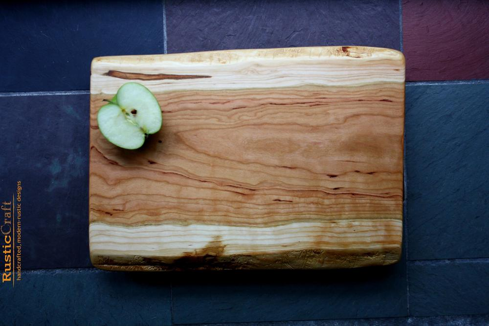 Footed Cutting Board -Rustic Black Cherry - Cheese Serving Board- Wood Anniversary Gift 406