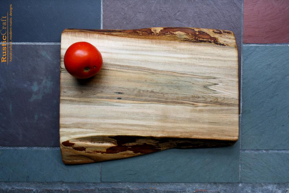 Personalized Cutting Board- Hard Maple Organic shape live edge- Personalized Wood Anniversary Gift 412