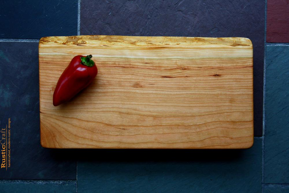 Footed Black Cherry Cutting Board- 5th Anniversary Wood Gift- Heirloom Gifts- 418