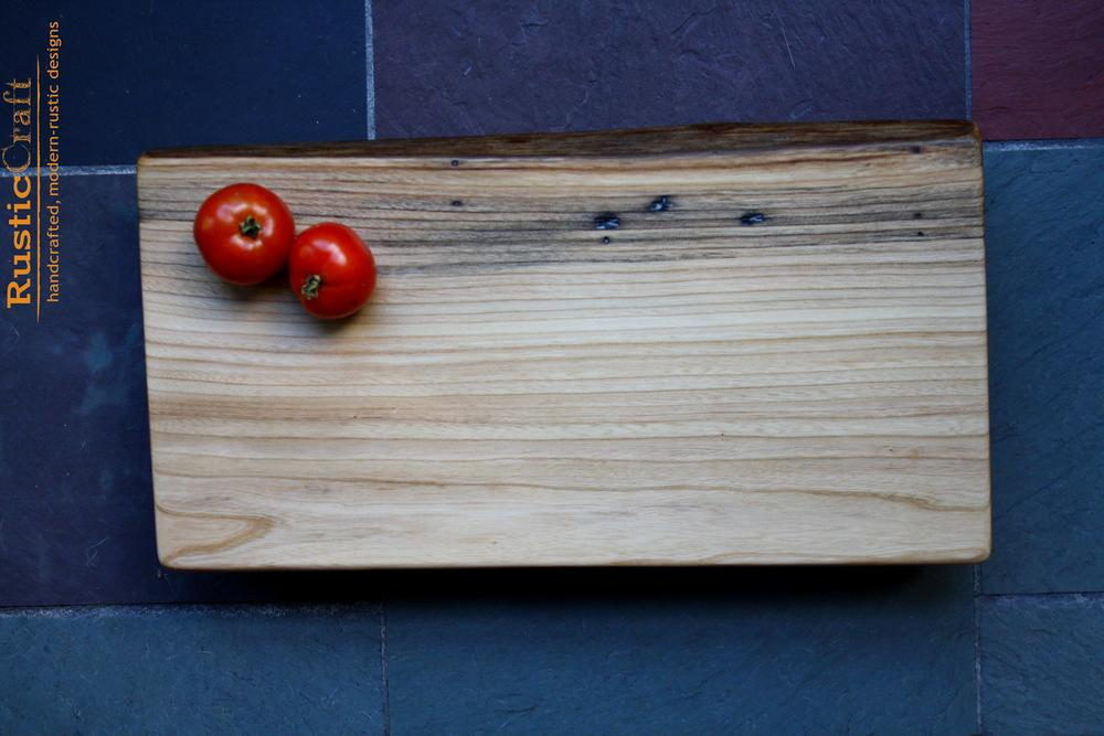 American Elm Personalized Cutting Board -Medium Rustic Cheese Board - Unique Wedding Gift 451
