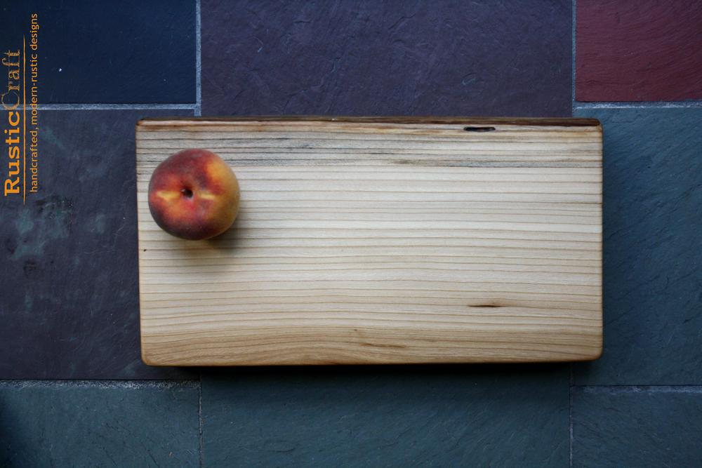 Personalized Cutting Board - Thick & Heavy American Elm with Live Edge- Personalized Kitchen Engagement Gift 463