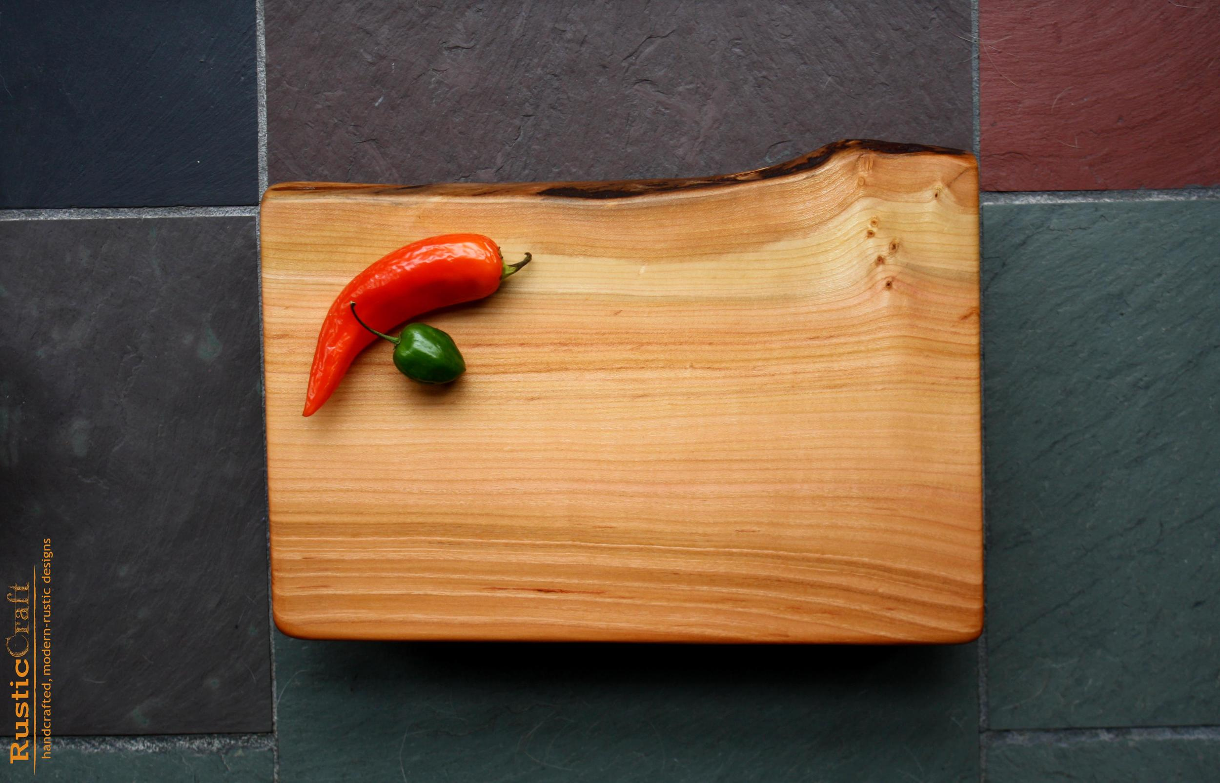 Personalized Cutting Board- Organic Shape Birdseye Black Cherry- Add Hand engraving- Handcrafted Rustic Beeswax finish 483