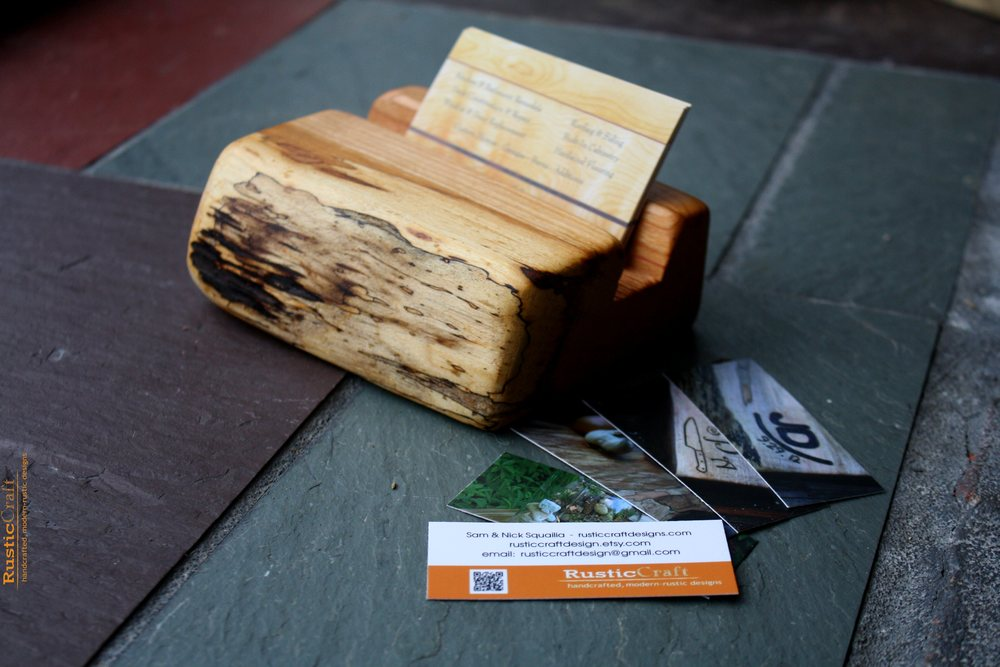 Business Card Holders — Rusticcraft Designs