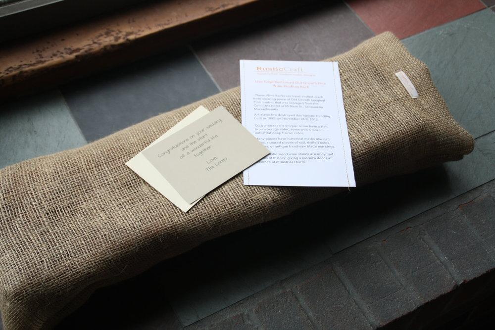 Gift Bag & Info sheet