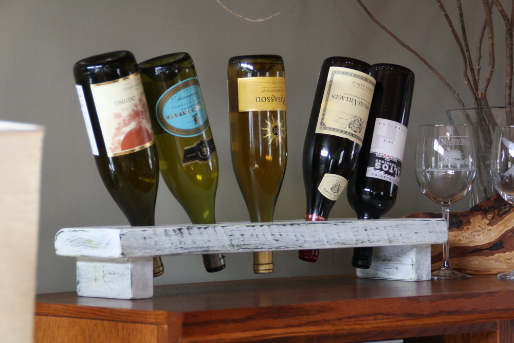 Americana Distressed Painted Wine Racks