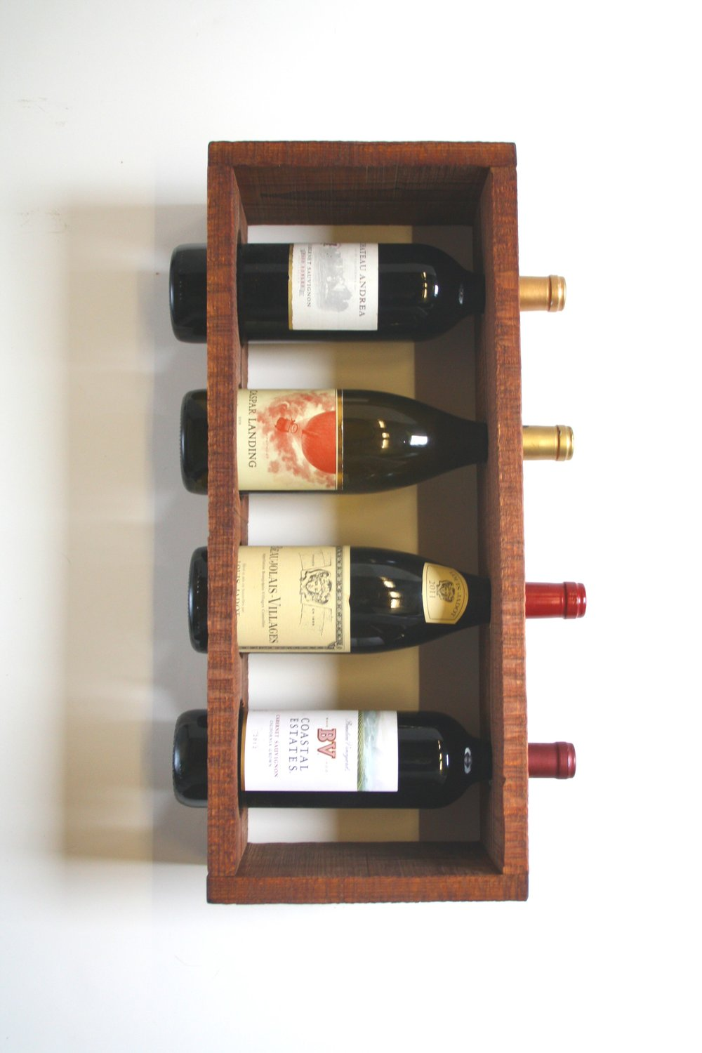 bottle rack wine full clear grapevine plastic acrylic size