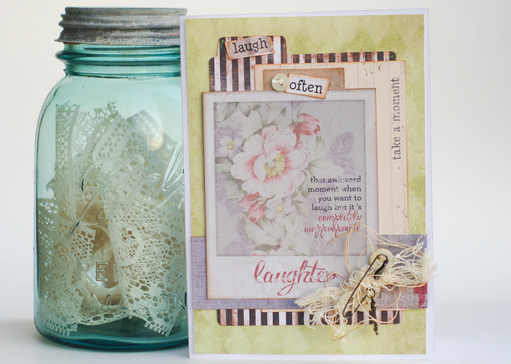 Card created by Sheila Rumney using 7 Gypsies and Canvas Corp Brands Products.