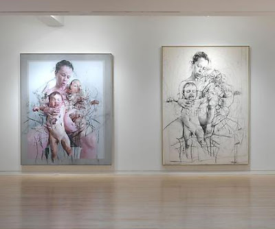 Jenny Saville at the Gagosian  Installation view 2011
