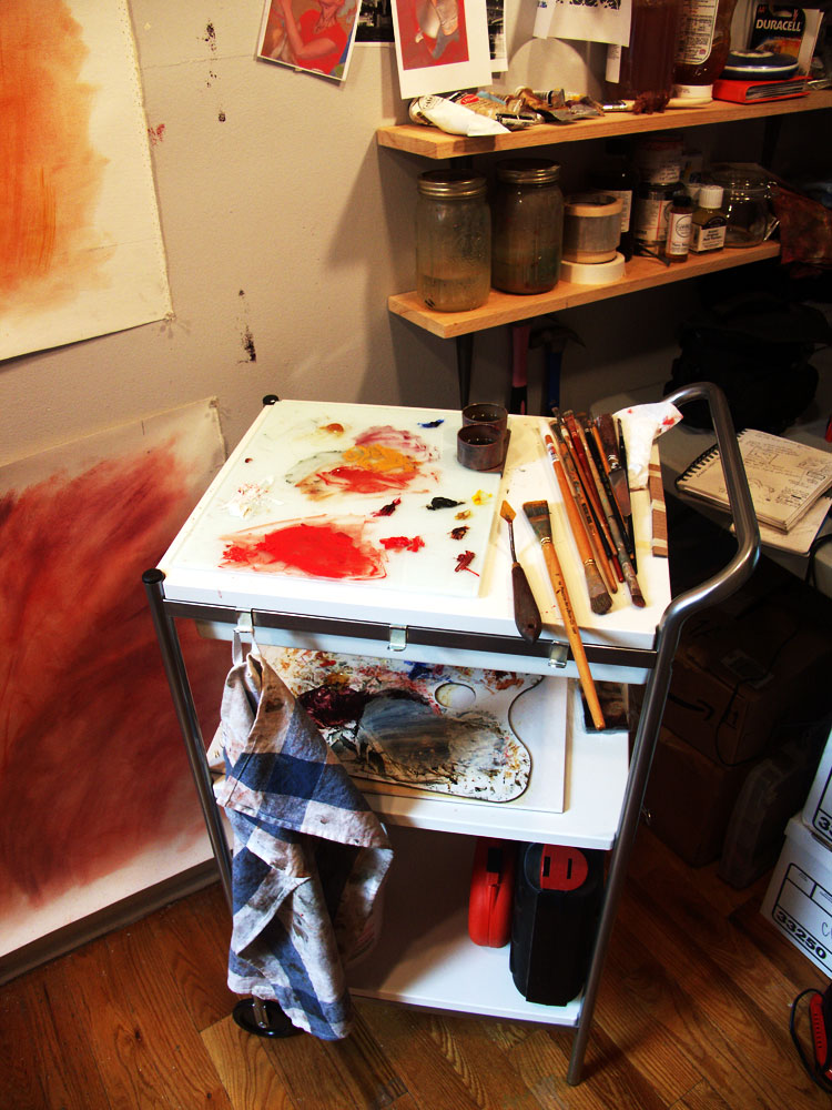 New Painting Cart